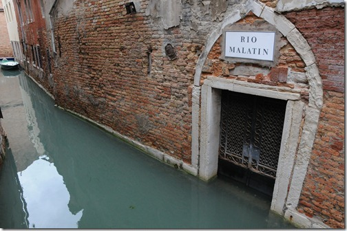 Flooding in the canals of Venice during Acqua Alta
