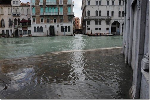 Flooding sidestreets of Venice during the Acqua Alta (High Water)