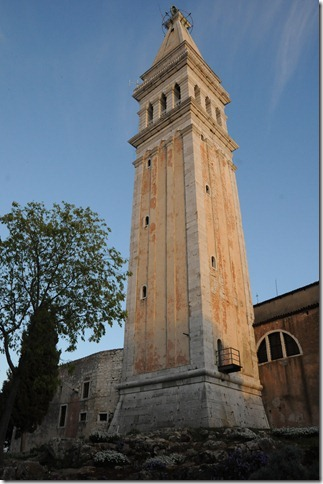 Camanile (Bell Tower) of St. Euphemia's Basilica in Rovinj, Istria, Croatia