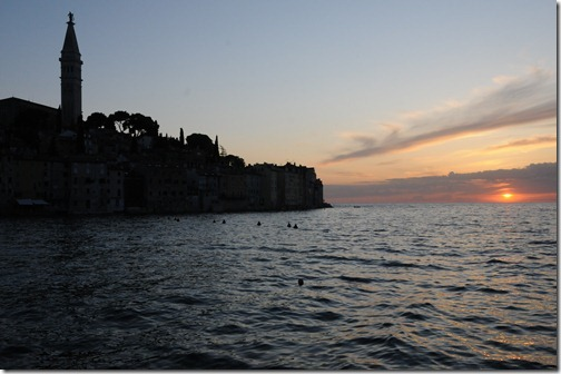 Sunset in Rovinj, Istria, Croatia