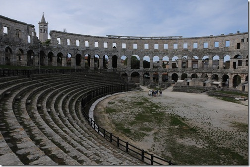 Pula Arena - Ancient Roman Amphitheater in Istria, Croatia