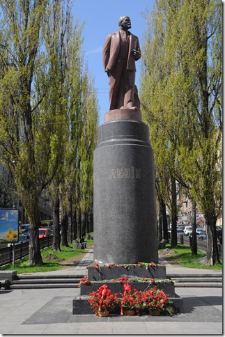 Statue of Lenin in Kiev, Ukraine