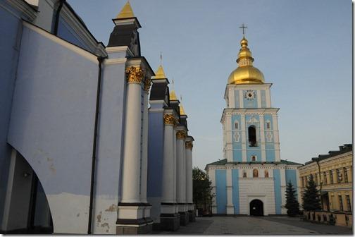 St. Michael's Gold Domed Monastery (Михайловский златоверхий монастырь) and bell-tower in Kiev, Ukraine