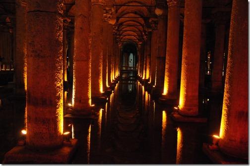 Ancient Roman Basilica Cistern (Yerebatan Sarayı) in Istanbul, Turkey