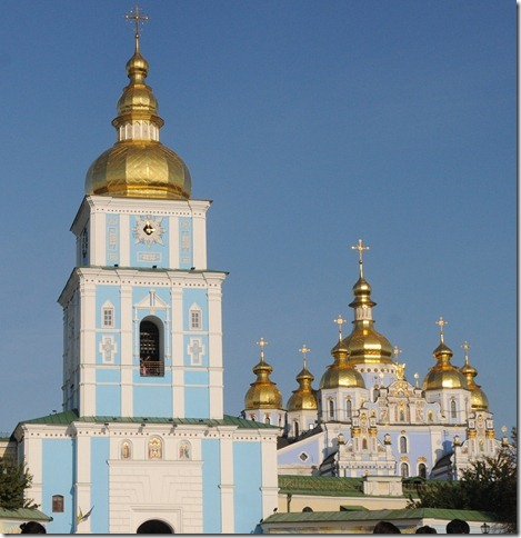 St. Michael's Gold Domed Monastery (Михайловский златоверхий монастырь) in Kiev, Ukraine