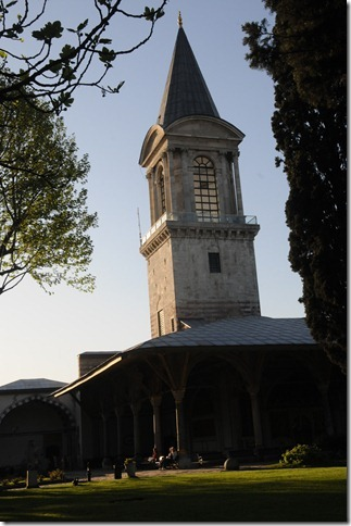 Tower of Justice (Adalet Kulesi) inside the Topkapi Palace in Istanbul, Turkey