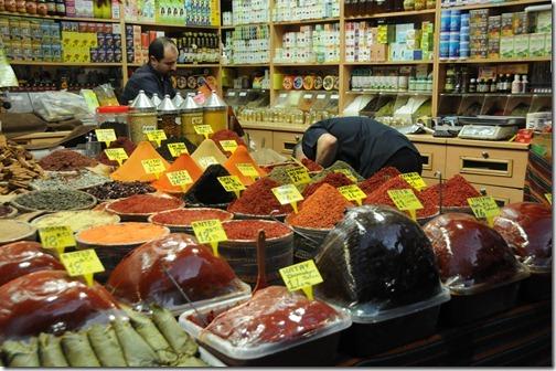 Spice for sale inside the Spice Bazaar (Mısır Çarşısı) in Istanbul, Turkey