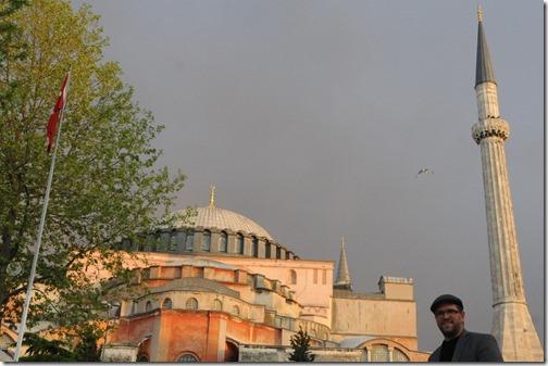 Self portrait ouside Hagia Sophia (Ayasofya) in Istanbul, Turkey