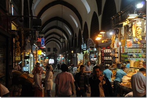 Inside the Spice Bazaar (Mısır Çarşısı) in Istanbul, Turkey