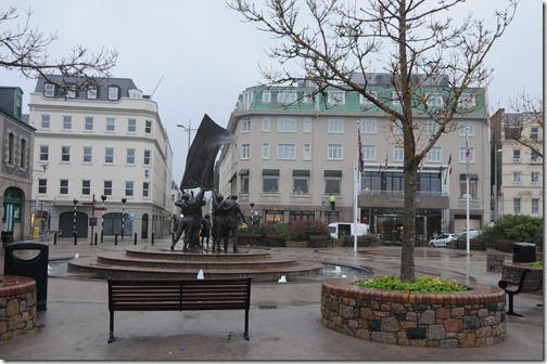 Liberation Square, Saint Helier, Jersey, Channel Islands (Saint Hélyi, Jèrri, Îles d'la Manche)