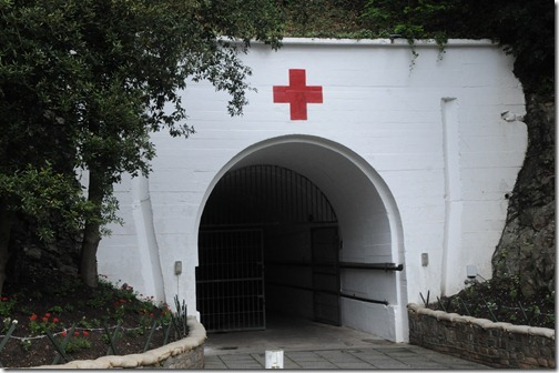 Entrance to the Jersey War Tunnels (Hohlgangsanlage 8) in Jersey, Channel Islands (Jèrri, Îles d'la Manche)
