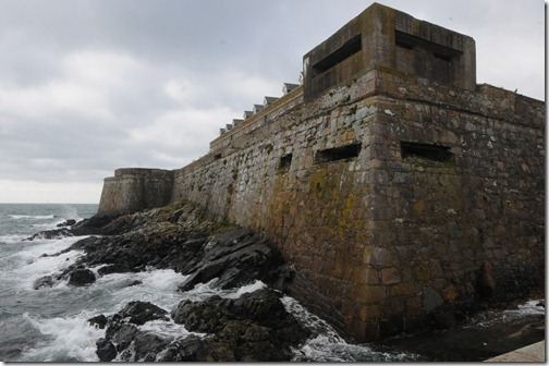 German WWII defensive emplacements on Castle Cornet in St. Peter Port, Guernsey, Channel Islands (St Pierre Port, Guernesey, Îles d'la Manche)