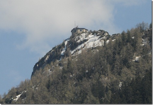 View of Hitler's Kehlsteinhaus (Eagle's Nest) from below.