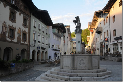 Fountain on Markt Street in Berchtesgaden, Germany