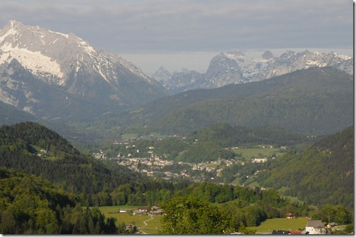 View of Berchtesgaden, Germany from the Rossfeld Ring Toll Road (Rossfeld Höhen Ringstrasse.)