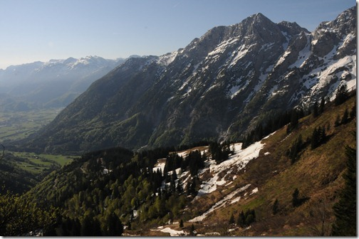 View into Austria from the highest point on the Rossfeld Ring Road (Rossfeld Höhen Ringstrasse) near Berchtesgaden, Germany