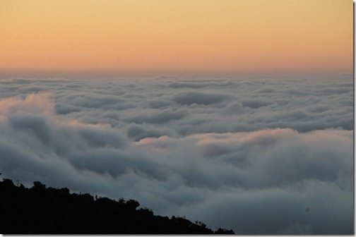 Sunrise above the clouds at Horombo Huts, Mt. Kilimanjaro, Tanzania