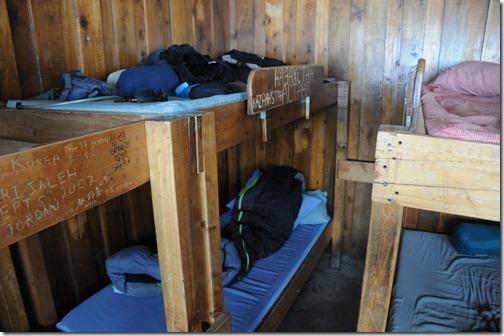 Bunks inside Kibo Hut, Mount Kilimanjaro, Tanzania