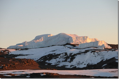 The remnants of the Eastern Icefield on the top of Kibo Peak, Mount Kilimanjaro