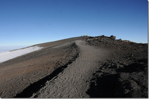 The last portion of the trail up to Uhuru Peak, Mount Kilimanjaro