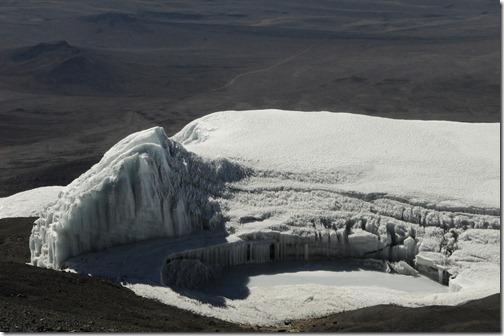 Melting Pool near the top of Rebmann Glacier near Stella Point on Kibo Peak, Mt. Kilimanjaro