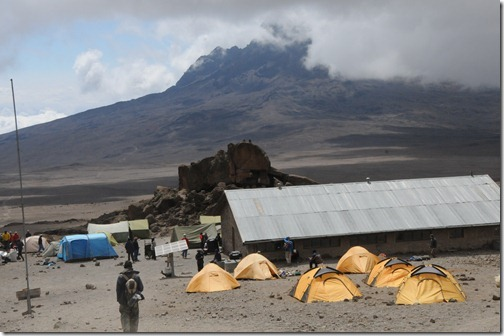 Kibo Hut on Mount Kilimanjaro, Tanzania