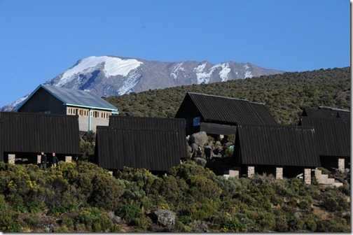 Back at Horombo Huts with a view of Kibo Peak in the background - Mt. Kilimanjaro, Tanzania