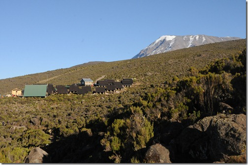 Horombo Camp and Kibo Peak on the slopes of Mount Kilimanjaro