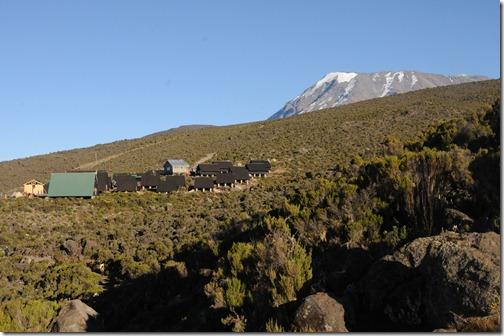 Horombo Camp and Kibo Peak on the slopes of Mount Kilimanjaro