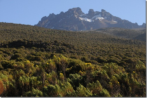 Parting view of Mawenzi Peak, Mount Kilimanjaro