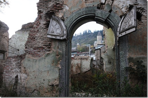 Destroyed church in Tbilisi, Georgia