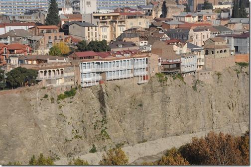 View of the Metekhi (მეტეხი) cliffs from Narikala Fortress, Tbilisi, Georgia