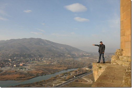 View of the city of Mtshketa (მცხეთა), Georgia from Jvari Monastery