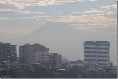 Yerevan, Armenia, with Mt. Ararat in the background