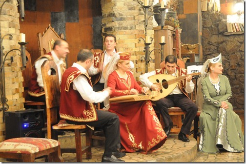 Traditional Armenian band in an Armenian Restaurant in Yerevan