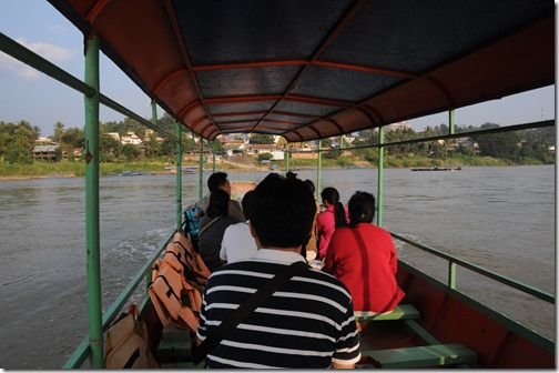 Crossing the Mekong River from Chiang Khong, Thailand into Laos