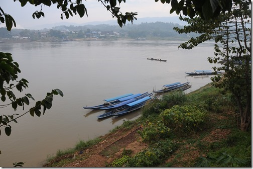 Morning over the Mekong River in Ban Houayxay (Huay Xai), Laos