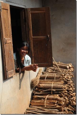 Friendly villager in Ban Houayxay (Huay Xai), Laos