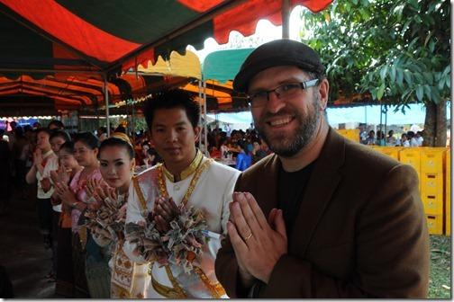 Author in a Laotian Wedding in Ban Houayxay (Huay Xai), Laos