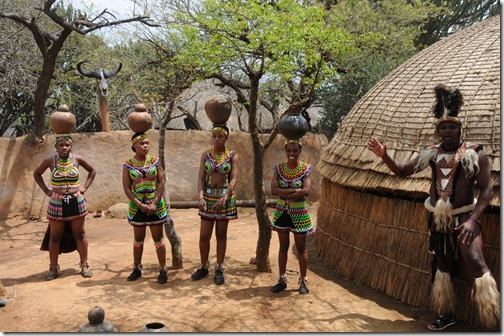 Jar carrying skills demonstrated in Shakaland, South Africa