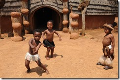 Cute Zulu children dancing in Shakaland, Kwa-Zulu Natal, South Africa