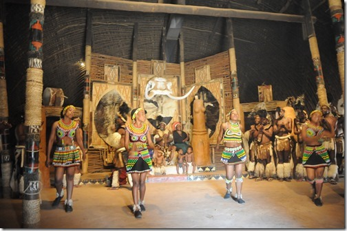 Zulu women dancing in the Shakaland show in South Africa