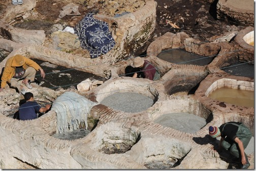 11th Century Tannery basins in Fes, Morocco