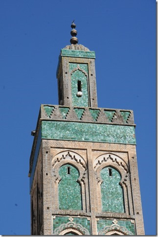 Minaret of the Mosque of Sidi Ahmad al-Tijani in Fes, Morocco