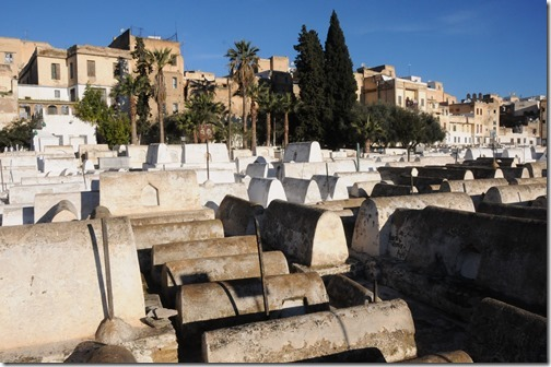 Jewish Cemetary in the Mellah (Old Jewish Quarter) in Fes, Morocco