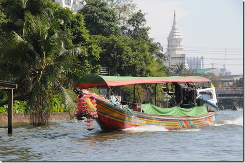 Longboat ride through the canals of Bangkok, Thailand