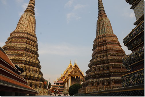 Colorful stupas at Wat Pho, Bangkok, Thailand