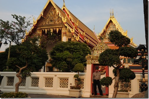 Self-portrait at one of the temples of Wat Pho in Bangkok, Thailand