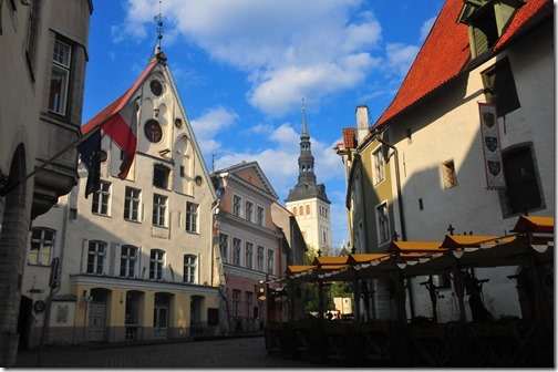 Medieval buildings in the Old Town of Tallinn, Estonia