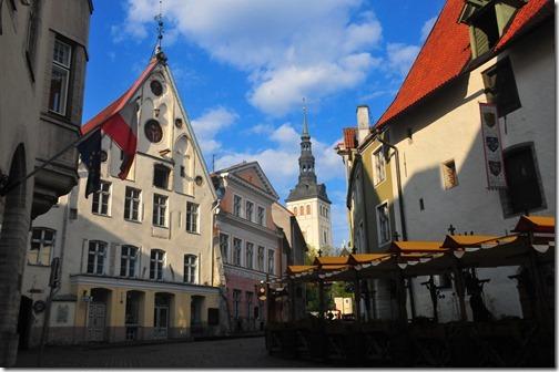 Medieval buildings in the Old Town of Tallinn, Estonia